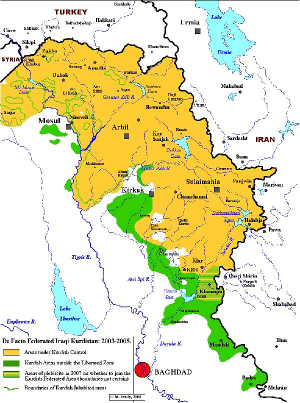 Explore Iraqi Kurdistan Map History And News The Kurdish Project - Iraq map
