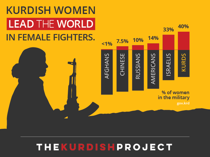 ypj infographic about kurdish female fighters