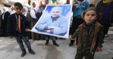kurdish children and abdullah ocalan