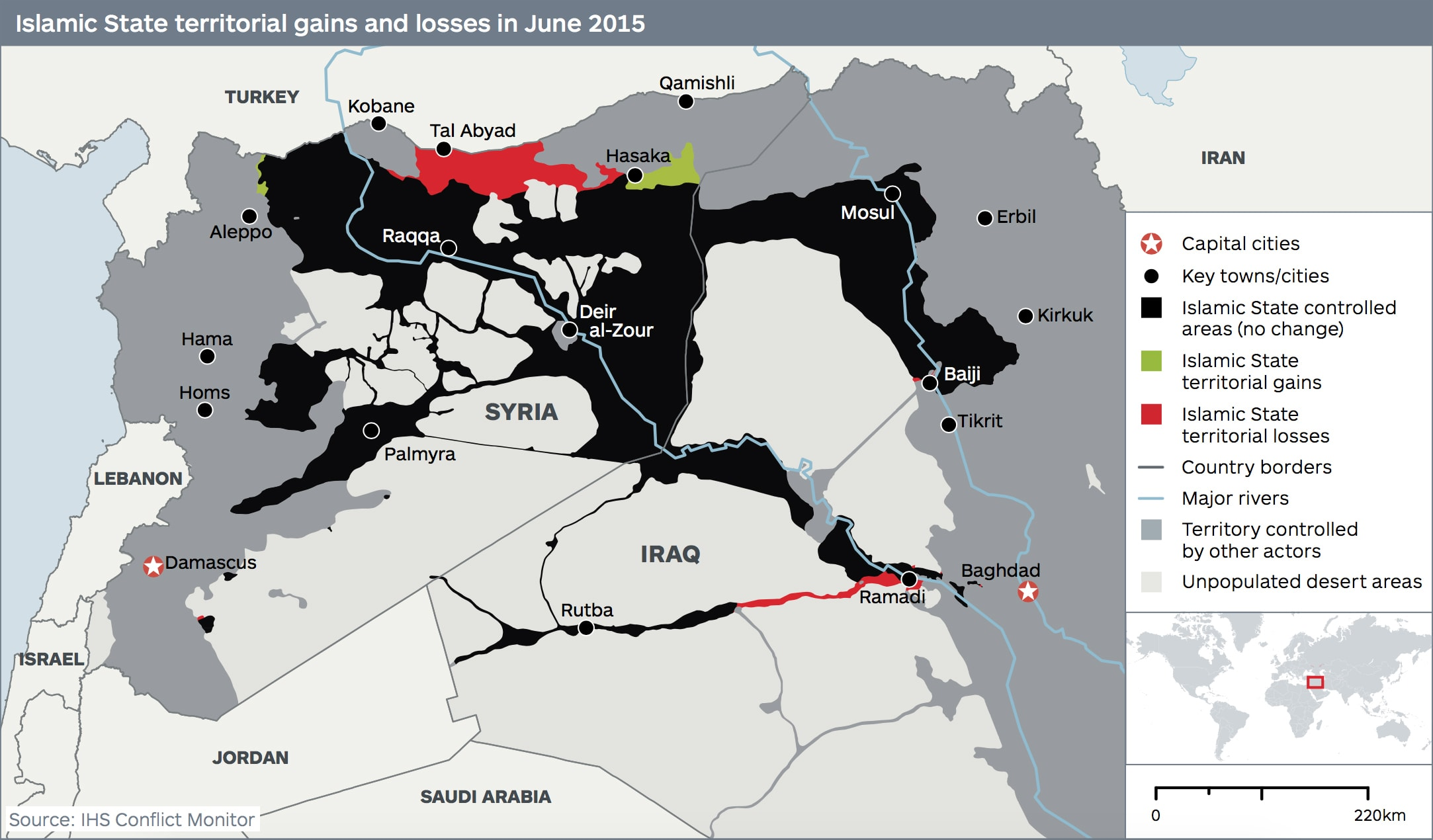 map of ISIS losses