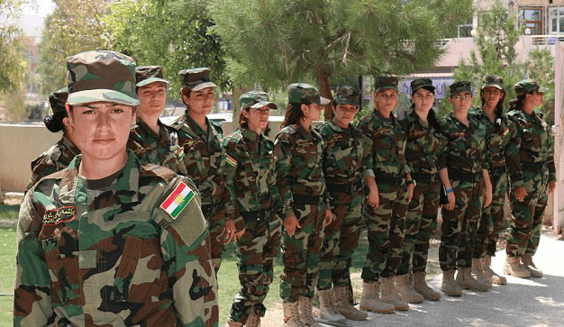 yezidi female fighters peshmerga
